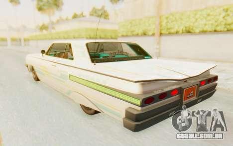 GTA 5 Declasse Voodoo Alternative v1 para GTA San Andreas interior