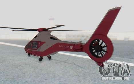 GTA 5 Buckingham Volatus v2 IVF para GTA San Andreas esquerda vista