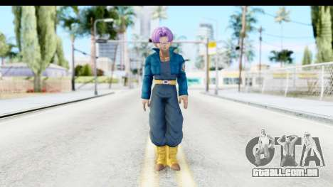 Dragon Ball Xenoverse Future Trunks SJ para GTA San Andreas segunda tela
