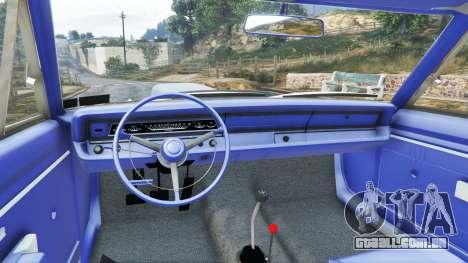GTA 5 Dodge Dart 1968 Hemi frente vista lateral direita