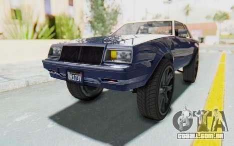 GTA 5 Willard Faction Custom Donk v1 para GTA San Andreas vista direita