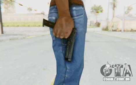 Tariq Iraqi Pistol Back v1 Black Long Ammo para GTA San Andreas terceira tela