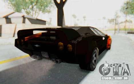 GTA VC Cuban Infernus para GTA San Andreas traseira esquerda vista
