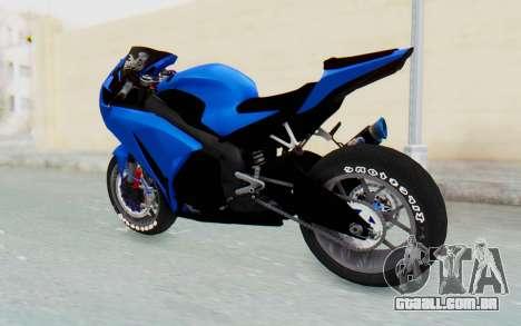 Honda CBR1000RR Streetrace para GTA San Andreas vista direita