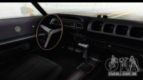 Mercury Cyclone Spoiler 1970 IVF para GTA San Andreas vista interior