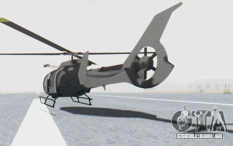 GTA 5 Maibatsu Frogger Civilian IVF para GTA San Andreas traseira esquerda vista