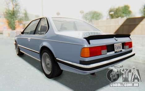 BMW M635 CSi (E24) 1984 IVF PJ1 para GTA San Andreas traseira esquerda vista