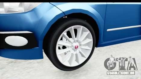 Fiat Linea 2014 Wheels para GTA San Andreas vista traseira