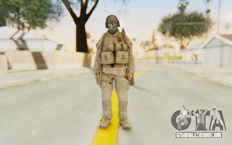 CoD MW2 Ghost Model v5 para GTA San Andreas segunda tela