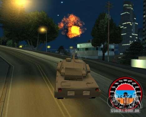 O velocímetro no estilo do armênio bandeira para GTA San Andreas por diante tela