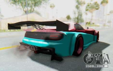 Bumblebee-R para GTA San Andreas traseira esquerda vista