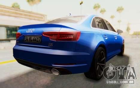 Audi A4 2017 HQLM para GTA San Andreas esquerda vista