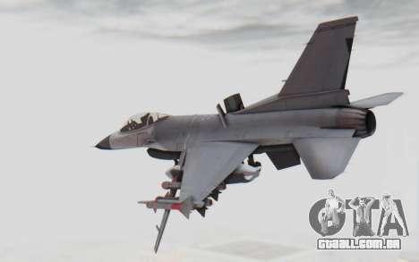 F-16 with Russian Missile para GTA San Andreas esquerda vista