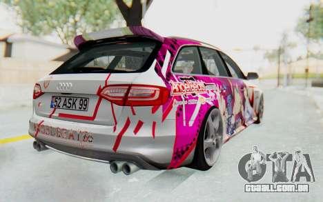 Audi S4 Avant Yurippe Angel Beats Itasha para GTA San Andreas vista direita