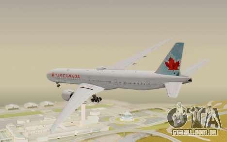 Boeing 777-300ER Air Canada para GTA San Andreas esquerda vista
