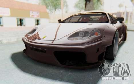 Ferrari 360 Modena Liberty Walk LB Perfomance v1 para GTA San Andreas vista traseira