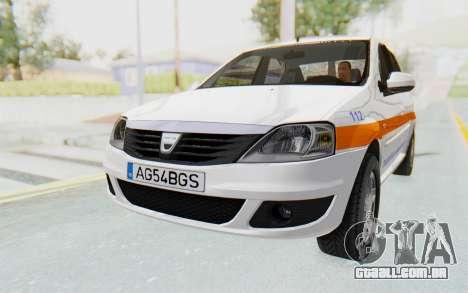 Dacia Logan Facelift Ambulanta para GTA San Andreas vista direita