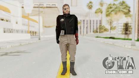 MGSV Phantom Pain Venom Snake Leather Jacket para GTA San Andreas segunda tela