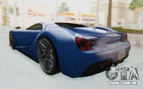 GTA 5 Vapid FMJ para GTA San Andreas esquerda vista