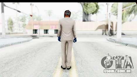 Payday 2 - Jiro with Mask para GTA San Andreas terceira tela