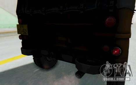 UAZ-460Б FIV para GTA San Andreas vista interior