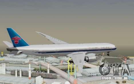 Boeing 777-300ER China Southern Airlines para GTA San Andreas vista direita
