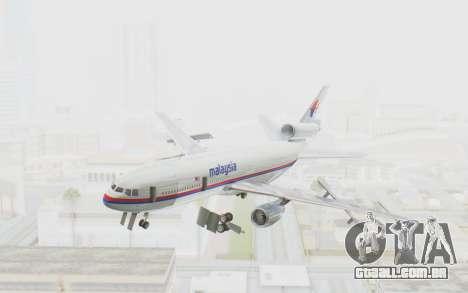DC-10-30 Malaysia Airlines (Old Livery) para GTA San Andreas traseira esquerda vista