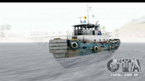GTA 5 Buckingham Tug Boat v1 IVF para GTA San Andreas vista direita