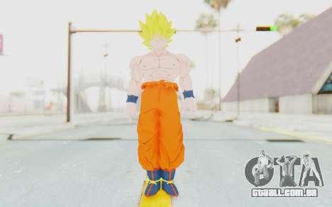 Dragon Ball Xenoverse Goku Shirtless SSJ para GTA San Andreas segunda tela