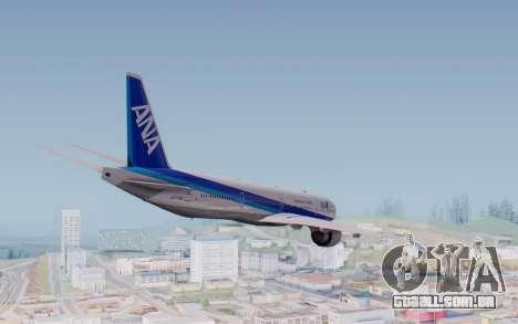 Boeing 777-300ER ZK-OKO - Smaug Livery para GTA San Andreas vista direita