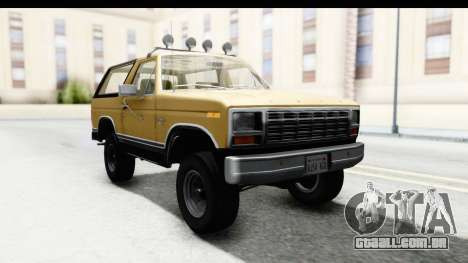 Ford Bronco 1980 IVF para GTA San Andreas traseira esquerda vista