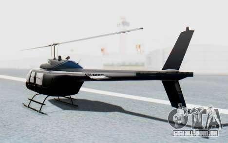 Bell 206B-III Jet Ranger Policja para GTA San Andreas esquerda vista