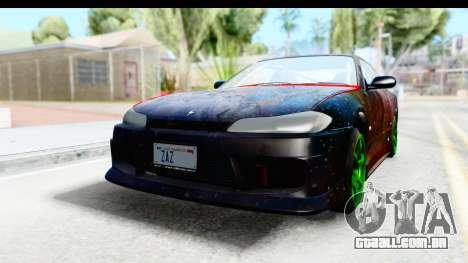 Nissan Silvia S15 Galaxy Drift v2.1 para GTA San Andreas vista traseira