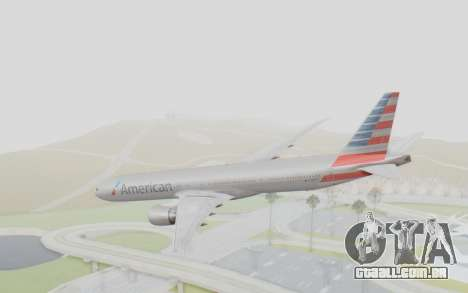 Boeing 777-300ER American Airlines N727AN para GTA San Andreas esquerda vista