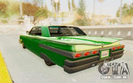 GTA 5 Declasse Voodoo SA Lights para GTA San Andreas traseira esquerda vista