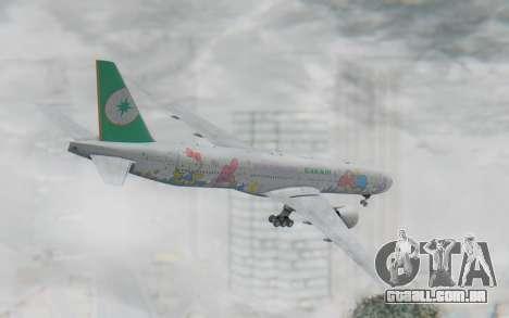 Boeing 777-300ER Eva Air v2 para GTA San Andreas esquerda vista