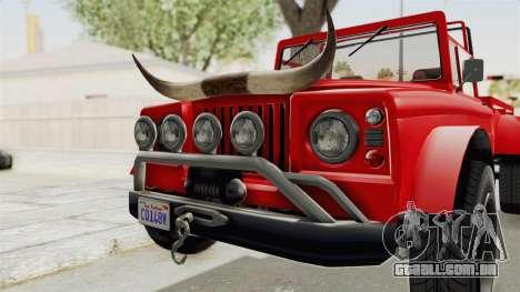 GTA 5 Canis Bodhi IVF para GTA San Andreas vista traseira