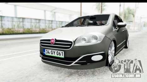 Fiat Linea 2014 para GTA San Andreas traseira esquerda vista