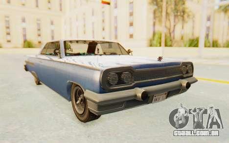 GTA 5 Declasse Voodoo Alternative v1 para GTA San Andreas traseira esquerda vista