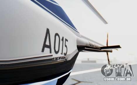 Bell 206B-III Jet Ranger Policja para GTA San Andreas vista interior