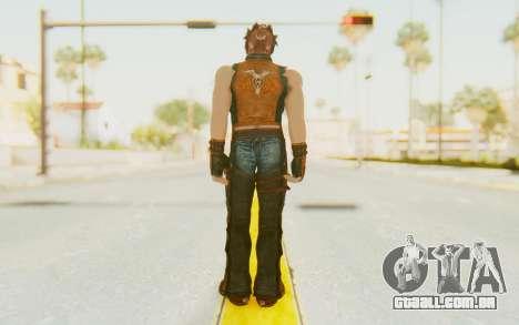 Hwoarang Skin para GTA San Andreas terceira tela