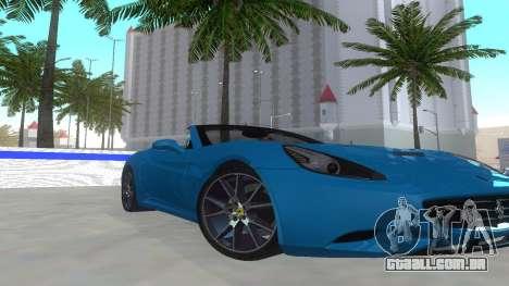 Ferrari California para GTA San Andreas esquerda vista