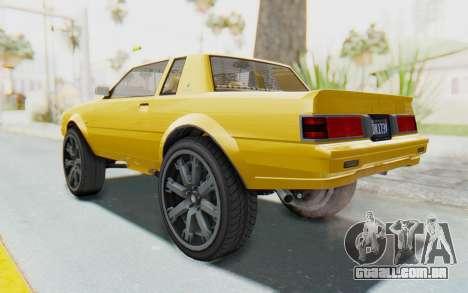 GTA 5 Willard Faction Custom Donk v1 IVF para GTA San Andreas esquerda vista