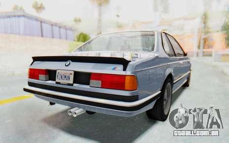 BMW M635 CSi (E24) 1984 IVF PJ1 para GTA San Andreas esquerda vista