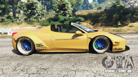 GTA 5 Ferrari 458 Spider [Liberty Walk] vista lateral esquerda