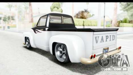GTA 5 Vapid Slamvan without Hydro para as rodas de GTA San Andreas