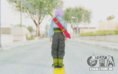 Trunks Del Futuro v2 para GTA San Andreas terceira tela