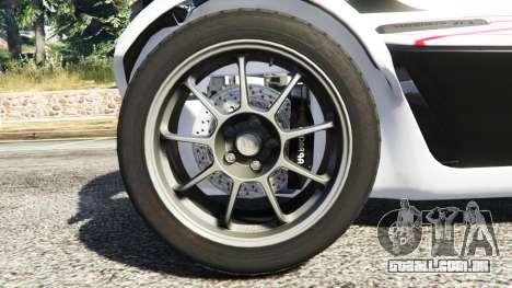 GTA 5 BAC Mono v2.0 traseira direita vista lateral
