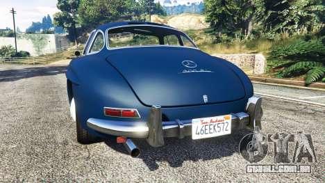 GTA 5 Mercedes-Benz 300SL Gullwing 1955 traseira vista lateral esquerda