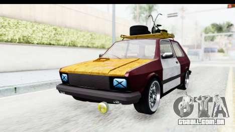 Zastava Yugo Koral Rat Style para GTA San Andreas vista direita